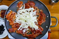 Χοιρινό κρέας Calbi, κορεατικά τρόφιμα Στοκ Εικόνες