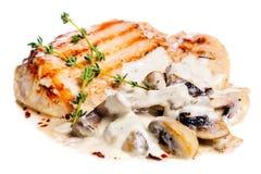 Χοιρινό κρέας escalope με τα μανιτάρια Στοκ φωτογραφία με δικαίωμα ελεύθερης χρήσης