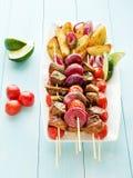 Χοιρινό κρέας kebabs Στοκ Εικόνες