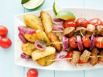 Χοιρινό κρέας kebabs Στοκ φωτογραφία με δικαίωμα ελεύθερης χρήσης