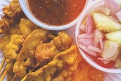 χοιρινό κρέας satay στοκ φωτογραφίες