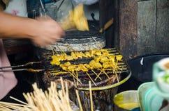 Χοιρινό κρέας satay στοκ εικόνες με δικαίωμα ελεύθερης χρήσης