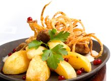 χοιρινό κρέας schnitzel Στοκ φωτογραφία με δικαίωμα ελεύθερης χρήσης