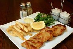 χοιρινό κρέας schnitzel Στοκ φωτογραφίες με δικαίωμα ελεύθερης χρήσης