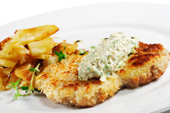 χοιρινό κρέας schnitzel Στοκ Εικόνες