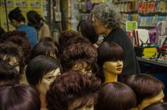 Χονγκ Κονγκ γυναικείας αγοράς στοκ εικόνες με δικαίωμα ελεύθερης χρήσης