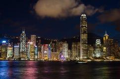 Χονγκ Κονγκ, λιμάνι Βικτώριας Στοκ Εικόνες