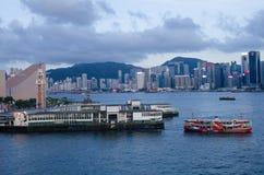 Χονγκ Κονγκ, λιμάνι Βικτώριας Στοκ Φωτογραφίες