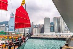 ΧΟΝΓΚ ΚΟΝΓΚ, ΚΙΝΑ - τον Απρίλιο του 2014: Λιμάνι Βικτώριας Χονγκ Κονγκ Chi Στοκ Εικόνες