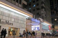 Χονγκ Κονγκ κόλπων υπερυψωμένων μονοπατιών λεωφόρων αγορών περιπάτων μόδας στοκ εικόνα