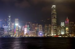 ΧΟΝΓΚ ΚΟΝΓΚ - 15 ΝΟΕΜΒΡΊΟΥ 2016: Ο ορίζοντας Χονγκ Κονγκ του Χονγκ Κονγκ είναι Στοκ Φωτογραφία