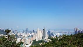 Χονγκ Κονγκ στην υψηλή προοπτική στοκ εικόνες