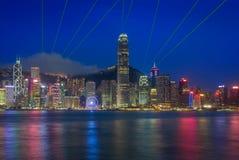 Χονγκ Κονγκ & φω'τα Στοκ Εικόνες