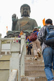 ΧΟΝΓΚ ΚΟΝΓΚ, ΧΟΝΓΚ ΚΟΝΓΚ - 8 Δεκεμβρίου 2013: Tian Tan ο γιγαντιαίος Βούδας από Po Lin το μοναστήρι, νησί Lantau στο Χονγκ Κονγκ Στοκ φωτογραφίες με δικαίωμα ελεύθερης χρήσης