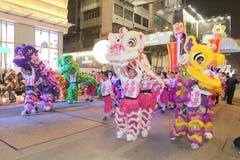 Χονγκ Κονγκ: Διεθνής κινεζική νέα παρέλαση 2015 νύχτας έτους Στοκ Εικόνα