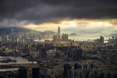 Χονγκ Κονγκ ICC με τον ειδικό φωτισμό στοκ φωτογραφίες με δικαίωμα ελεύθερης χρήσης
