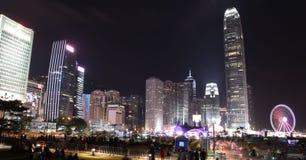 Χονγκ Κονγκ nightscape Στοκ Φωτογραφίες