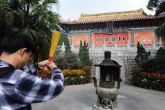 Χονγκ Κονγκ - Po Lin μοναστήρι Στοκ Φωτογραφία
