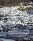 Χοντρά κομμάτια πάγου στοκ φωτογραφία