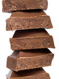 χοντρά κομμάτια σοκολάτα&si Στοκ εικόνα με δικαίωμα ελεύθερης χρήσης