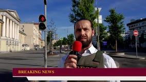 Χορδιστής δημοσιογράφων ραδιοφωνικής μετάδοσης απόθεμα βίντεο