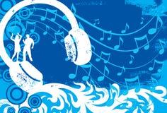 Χορευτές ακουστικών Στοκ εικόνα με δικαίωμα ελεύθερης χρήσης