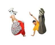 χορευτές δύο ανασκόπηση&sigma Στοκ φωτογραφία με δικαίωμα ελεύθερης χρήσης