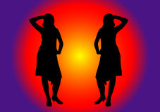 χορευτές δύο Στοκ φωτογραφία με δικαίωμα ελεύθερης χρήσης