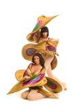 χορευτές κοστουμιών πεταλούδων Στοκ Φωτογραφία