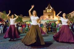 χορευτές μεσαιωνικοί στοκ φωτογραφία με δικαίωμα ελεύθερης χρήσης