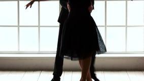 Χορευτές μπαλέτου που εκτελούν το χορό στο στούντιο απόθεμα βίντεο