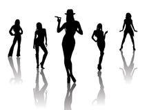 χορευτές προκλητικοί Στοκ εικόνα με δικαίωμα ελεύθερης χρήσης