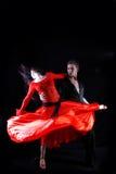 Χορευτές στην ενέργεια Στοκ φωτογραφίες με δικαίωμα ελεύθερης χρήσης