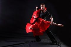 Χορευτές στην ενέργεια Στοκ Εικόνες