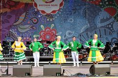 Χορευτές στη σκηνή Στοκ Φωτογραφίες