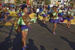 Χορευτές στο Arica καρναβάλι, Χιλή Στοκ φωτογραφίες με δικαίωμα ελεύθερης χρήσης