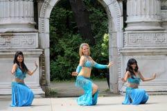 χορευτές τρία κοιλιών Στοκ Εικόνες