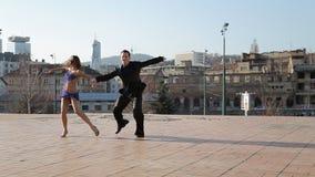 Χορευτές χιπ-χοπ απόθεμα βίντεο