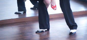 Χορευτές χορού αιθουσών χορού Στοκ εικόνα με δικαίωμα ελεύθερης χρήσης