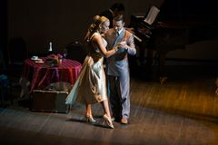 Χορευτές Artem Mayorov και Julia Osina Στοκ φωτογραφία με δικαίωμα ελεύθερης χρήσης