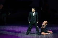 Χορευτές Artem Mayorov και Julia Osina Στοκ Φωτογραφία