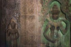 Χορευτές Aspara, Angkor Wat Στοκ εικόνες με δικαίωμα ελεύθερης χρήσης