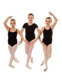 Χορευτές Ballerina στην κλάση Στοκ φωτογραφία με δικαίωμα ελεύθερης χρήσης