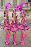 Χορευτές Morenada στο Περού στοκ εικόνα