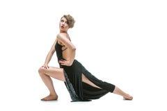 Χορευτής κοριτσιών στο φόρεμα τανγκό Στοκ Εικόνα