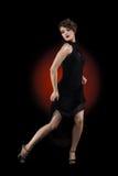 Χορευτής κοριτσιών στο φόρεμα τανγκό Στοκ Φωτογραφίες