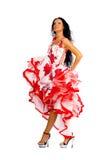 χορευτής Λατίνα στοκ εικόνα