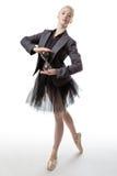 Χορευτής με ένα γυαλί ώρας στοκ εικόνα