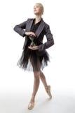 Χορευτής με ένα γυαλί ώρας στοκ φωτογραφία με δικαίωμα ελεύθερης χρήσης