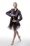 Χορευτής με ένα γυαλί ώρας στοκ εικόνες με δικαίωμα ελεύθερης χρήσης